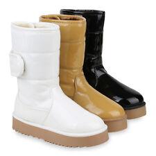 Damen Winter Boots Warm Gefütterte Stiefel Plateau Stiefeletten 820254 Schuhe