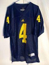 adidas NCAA Jersey Michigan Wolverines #4 Navy Sz L