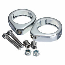 49mm Fork Motorcycle Chrome Clamps Turn Signal For Harley Softail Mount Bracket