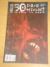 THIRTY 30 DAYS OF NIGHT 30 DAYS TIL DEATH #1 RI COVER 2008 IDW BEN TEMPLESMITH