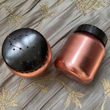 New ListingVtg Color Craft Metal Salt Pepper&Shakers Copper Anodized Aluminum Black Lids
