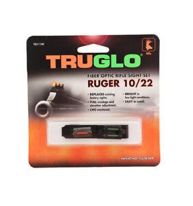 TruGlo Ruger 10/22 Fiber Optic Rifle Sight Set-TG111W