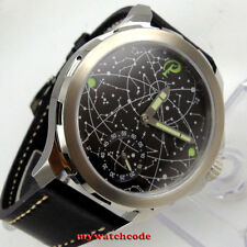 44mm mens parnis constellation dial Sapphire glass 6498 hand Winding mens watch
