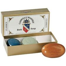 Caswell-Massey Men's Classic Bath Soap Set - Sandalwood, Newport & Greenbriar