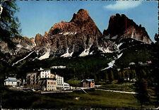 1956 Dolomiti Italien Passo Grand Hotel Tre Croci Stempel & Postkarte Briefmarke
