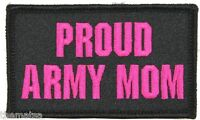 PROUD ARMY MOM 2 X 3  EMBROIDERED UNIFORM VEST SHIRT PATCH WITH HOOK LOOP