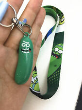 Neck Strap Lanyard Rick and morty Mobile ID Key Card Holder Keychain