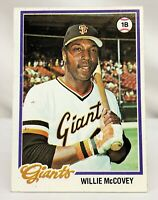 1978 Topps WILLIE MCCOVEY San Francisco Giants Baseball Card #34