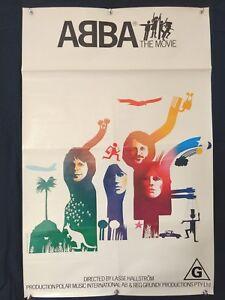 ABBA THE MOVIE - ORIGINAL 1977 AUSTRALIAN  ONE SHEET MOVIE POSTER