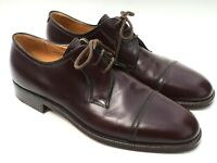 Gravati Men's Size 10.5 Hand Made Italy Brown Cap Toe Oxford Dress Shoes