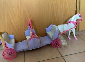 """Barbie Kutsche """"Die 12 tanzenden Prinzessinnen"""" mit Pferd"""
