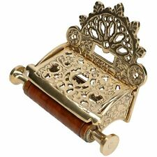 Toilet Roll Paper Holder Lidded Brass Finish Antique Victorian Style Metal Loo