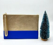 Shiseido Gold & Blue Makeup Cosmetics Bag / Pouch, Brand New!!