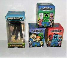 MINECRAFT ADVENTURE FIGURES SERIES 2 ENDERMAN & BOBBLE MOBS SERIES 1,2 & 3 BOX