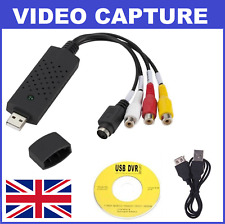 USB 2.0 To 3 RCA VHS DVD Game Audio Video Capture Card Adapter Converter (NEW)
