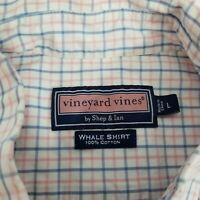 Vineyard Vines Whale Men's Long Sleeve Button Front Shirt~Large L