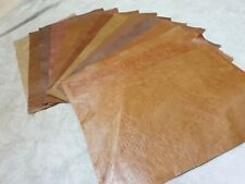 "Shades of Brown Tan 100% leather offcut 14""×5.5"" you get 1 piece 1.1mm  Craft"