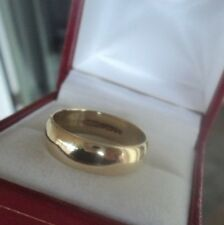 Vintage 9ct Yellow Gold Wedding Band Ring h/m 1994 Birmingham H. Samuel - size Q