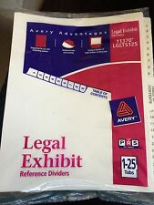 Avery Legal Exhibit Reference Dividers 1-25 Tabs 11370