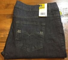 LEE Straight Stretch Lightweight Jeans - Womens Plus 24W 24 W (gray) NWT $58