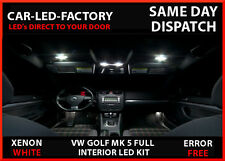 VW GOLF MK 5 & GTI INTERIOR UPGRADE LIGHTING 12 LED REPLACEMENT BULB SET