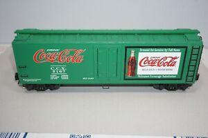 K-Line Trains K762-5107 Coca-Cola Green Wood Sided Reefer Car