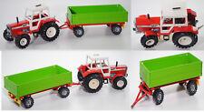 Siku Farmer 3750 Massey Ferguson MF 284 S Traktor mit Zweiachs-Anhänger, 1:32