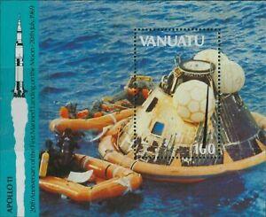 Vanuatu 1989 20th Anniversary Moon Landing Miniature Sheet MNH