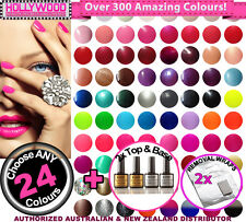 ANY 24x Bluesky SoakOff UV/LED Gel Nail Polish +2x Top&Base Coats +Removal Wraps