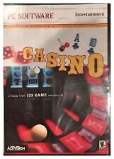 Activision Casino for PC Brand New Sealed - Free U.S. Ship -139 Games Variations