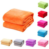 Home Coral Velvet Soft Polar Fleece Throw Blanket Rug Sofa Bed Travel Throwover