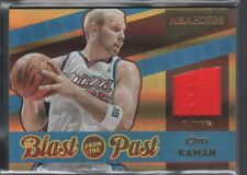 CHRIS KAMAN 2014/15 PANINI HOOPS BLAST FROM PAST #28 GAME JERSEY CLIPPERS SP