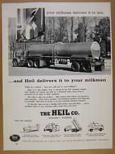 1961 Heil Milk Tanker Truck photo vintage print Ad