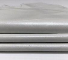 Italian Lambskin leather skin skins hide hides WHITE PEARLIZED 6sqf