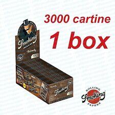 CARTINE  MARRONI SMOKING BROWN CORTE 1 BOX 50 LIBRETTI 3000 FOGLI