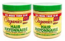 2 x Afrique meilleur Organique Traitement de cheveux mayonnaise pour semaine,