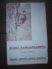 DÉPLIANT PUBLICITAIRE DÉBUT XXème ITALIE ECOLE ALPINISME EMILIO COMICI 1935