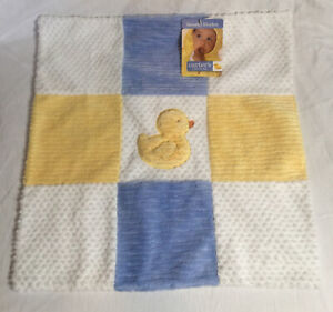 Carter's Duck Security Blanket Little Duckie Chenille Blue Yellow White Lovey NE