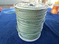 16 GAUGE BRAIDED AUTOMOTIVE AIRCRAFT ELECTRICAL WIRE GREEN VINTAGE NOS EST. 900'