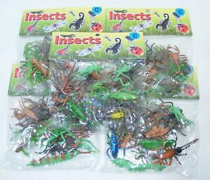 Lot de 110 insectes en plastique 5cm Jouets 5 pochettes Harmony