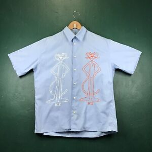 VINTAGE HISTORY ICEBERG PINK PANTHER MADE IN ITALY BUTTON UP SHIRT SIZE LARGE