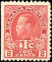Canada Mint H 1916 F-VF Scott #MR3 2c+1c War Tax Stamp