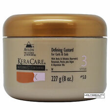 KeraCare Defining Custard 227 g (8 Oz.) Natural Textures with Free Gift