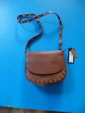 Beautiful Las Real Leather Brown Shoulder Bag Marks Spencer Bnwt New