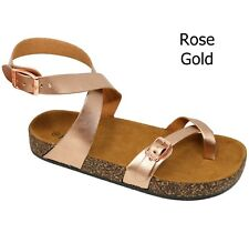 4c800ceee12 New Women A61 Toe Ring Cork Platform Slippers Ankle Strap Sandals Slides 5  to 11