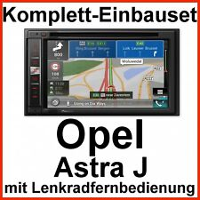 Komplett-Set Opel Astra J Pioneer AVIC-F980BT Navi Bluetooth USB MP3 DVD