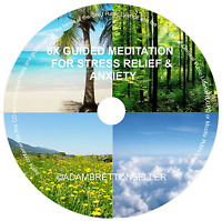 6 x Guided Meditation Sessions CD - Stress Relief, Stop Anxiety, Calm the Mind
