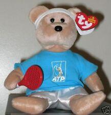 Ty Beanie Baby ~ FEDER-BEAR (ROGER FEDERER Tennis Bear)(ATP EXCLUSIVE) MWMT