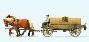 Preiser 30414 HO Pferdewagen - Jauchewagen