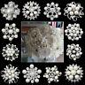 Silver Bouquet Crystal Rhinestone Pearl Flower Brooch Pin Wedding Bridal Jewelry